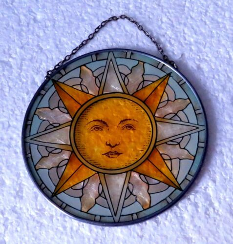"""Suncatcher Cosmic Sun Suncatcher with Face 4.50""""x4.50"""""""