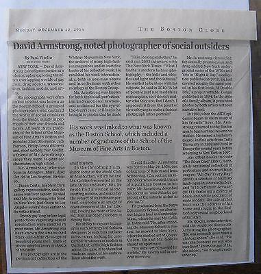 Obituary Boston Globe 12 22 2014 David Armstrong Photographer Social Outsiders