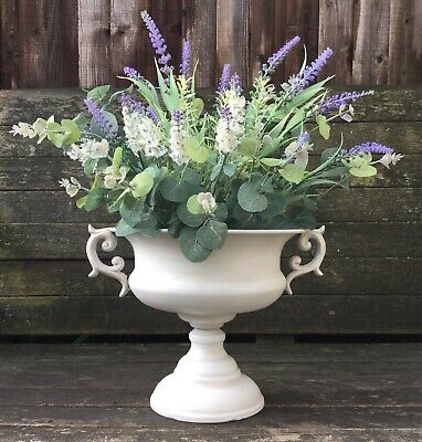 Antique French Vintage Style Metal Urn Garden Planter Flower Pot Vase Ornament