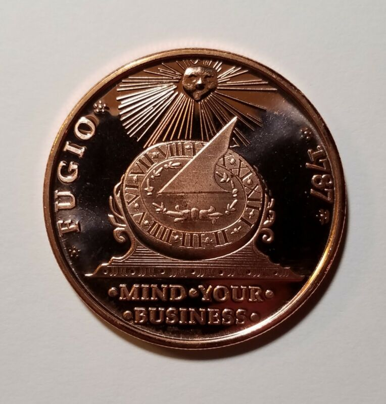 1787 Fugio Cent First US 1C Colonial Penny 1oz .999 Copper Repro Multi Discount
