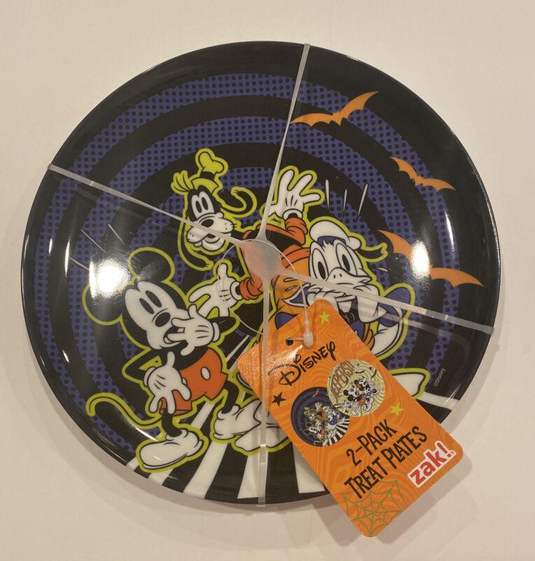 Disney Halloween Treat Plates - Set Of 2 - Blue & Green - Zak!