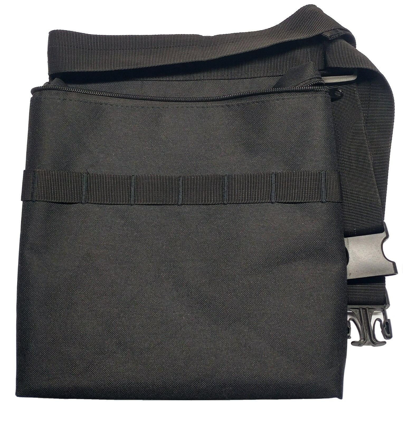 black metal detecting diggers pouch with interior