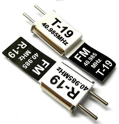 RC 40 MHZ 40.985 FM Crystal TX & RX Receiver 40MHZ Black