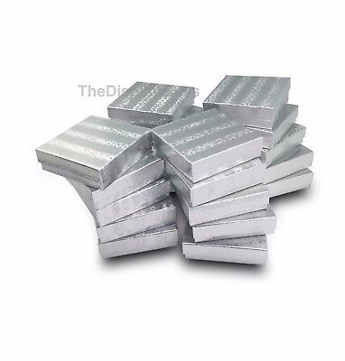 Us Seller12 Pcs 3 12x3 12x1 Silver Cotton Filled Jewelry Gift Boxes