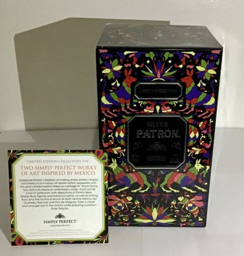 Silver Patron Tequila Limited edition Empty Metal Tin Box