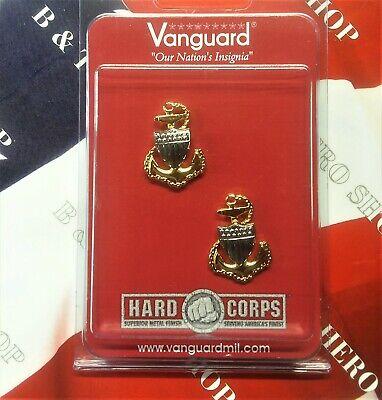 Coast Guard Metal Collar Device: E7 Chief Petty Officer Metal Collar Device