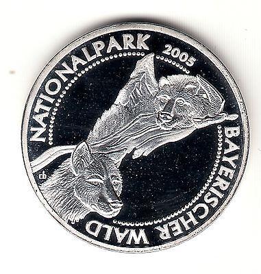 AV-VD Gedenkprägung zu den 10 Euro Münzen Nationalpark Bayrischer Wald  DY44