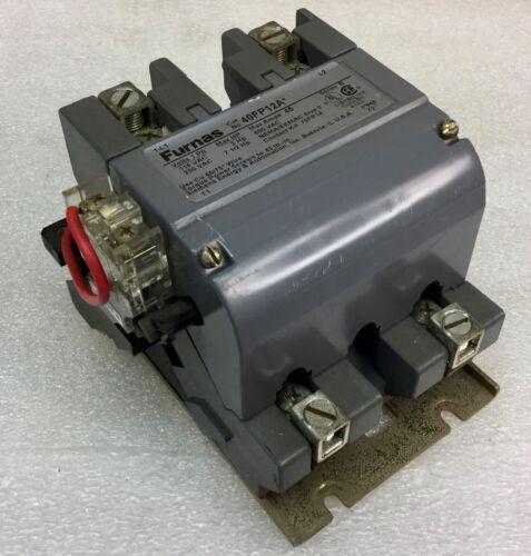 FURNAS MODEL 40FP12A SIZE 2 CONTACTOR 45A MAX 120VAC COIL NEW NO BOX