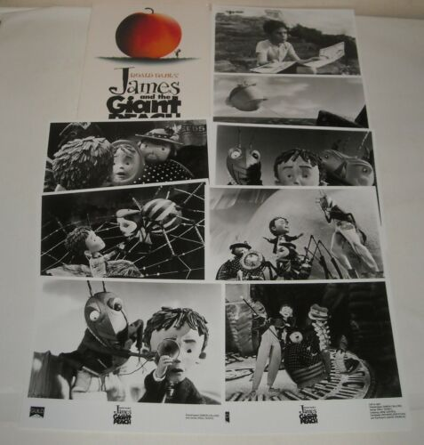 JAMES and the GIANT PEACH PROMO MOVIE PRESSBOOK with 8 PHOTOS ROALD DAHL STORY
