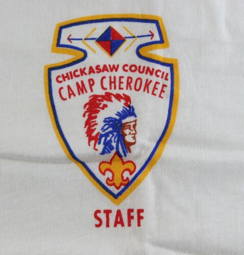 Vintage Camp Cherokee Chickasaw STAFF Size XL Shirt Boy Scouts America BSA
