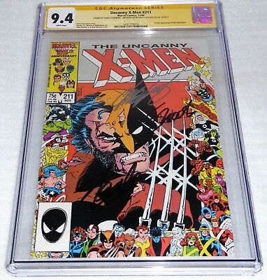 Uncanny X-Men #211 CGC SS 3x Signature Autograph STAN LEE 1st Full Marauders