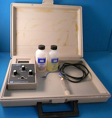 Sargent-welch Ph5000 Digital Ph Meter With Probes And Buffer Solutions