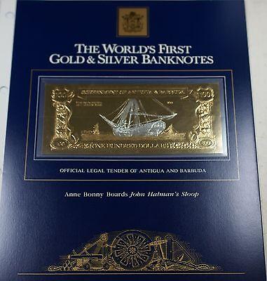 1981 Antigua/Barbuda $100 Gold/Silver Note-Anne Bonny Boards John Halman's (100 Antigua Note)