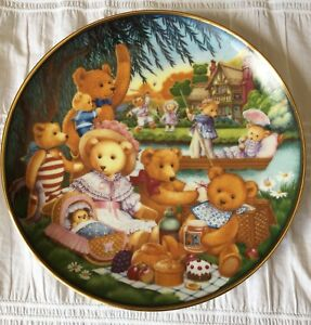 """A teddy bear picnic"" collectable plate"
