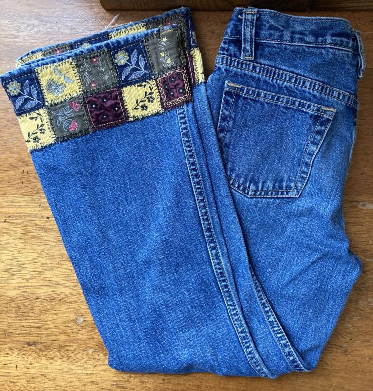 Vintage Childrens Gap Jeans patchwork bell bottoms EUC 100% cotton no stretch