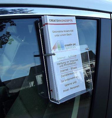 Prospekthalter,Flyerhalter für Autoscheiben DIN LANG , Flyerbox,Prospektbox