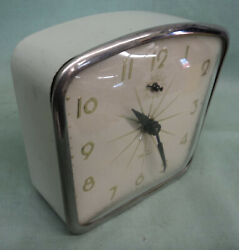 Vintage Lux Wren Wind Up Alarm Clock Retro Mid Century Modern