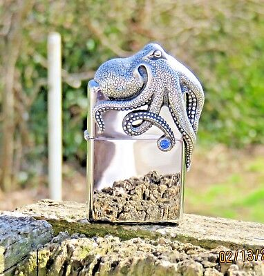 ZIPPO LIMITED EDITION#XXXX/2500 OCTOPUS 3D LIGHTER IN A SPEC