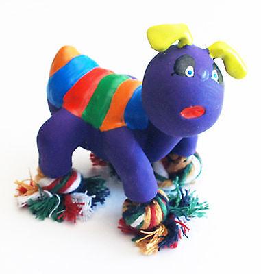 Ameise 8 cm Latex mit Seil Füßen Spielzeug lila Quietscher Hundespielzeug