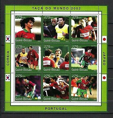 Guinea-Bissau 2001 Mi#1352-60  World Cup Soccer 2002-Couto/Others  MNH M/S $8