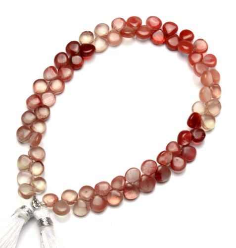 "Natural Gem Andesine Labradorite 6mm Size Smooth Heart Shape Beads 9"" Strand"