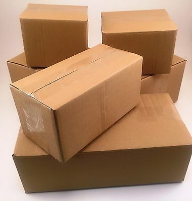 50 4x4x4 Corrugated Cardboard Shipping Boxes -packing -cartons -mailing -moving
