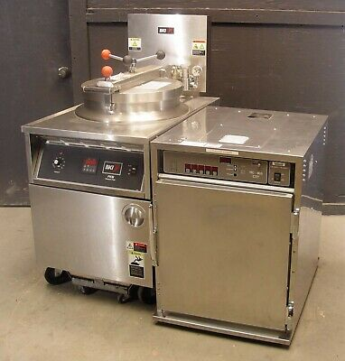 Bki Pressure Fryer Fkm-f With Henny Penny Hc-903 Cdt Heated Holding Cabinet