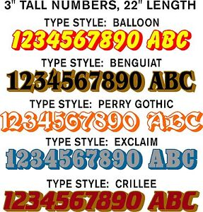 VINYL-DECALS-2-COLOR-CHOICES-BOAT-NUMBERS-SNOWMOBILE-STICKERS-WOW