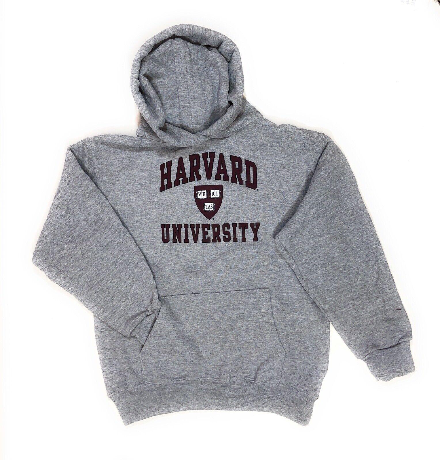 Harvard Blutrot Gipfel-Logo Kapuzenpullover Jugendgrößen: S-M-XL Nwt Made in USA