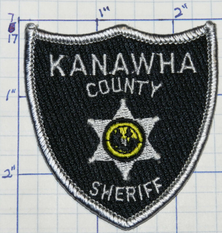 """WEST VIRGINIA, KANAWHA COUNTY SHERIFF VERSION 2 HAT 2.75"""" PATCH"""