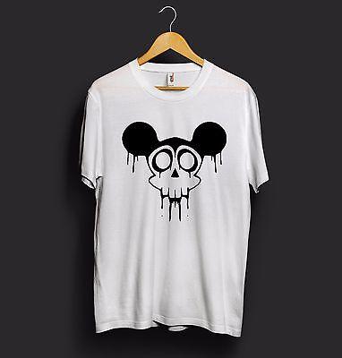 Mickey Mouse T Shirt Disney Skull Skeleton Halloween Horror Face
