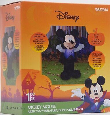 Halloween Disney 3.5 ft Mickey Mouse Vampire Lighted Yard Inflatable - Mickey Halloween Inflatable