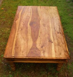Large Rustic Timber Coffee Table Bali Style Glen Iris Boroondara Area Preview