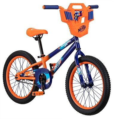 Hasbro's Nerf Kid's Bike with Shield, Jolt Blaster, and 8 darts; 18 inch wheel,