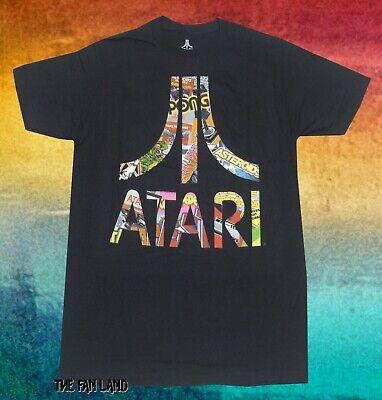New Atari Logo Vintage Mens Classic Video Game T-Shirt
