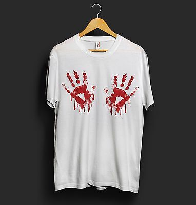 s Blood Hands Chest Funny Girlfriend Halloween Celine Vogue (Halloween Titties)