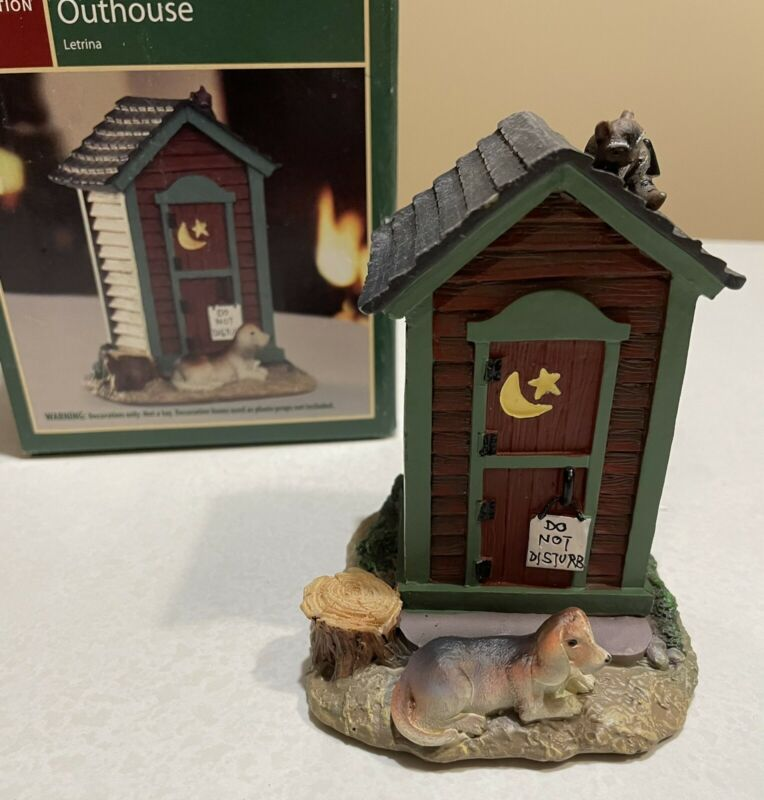 Holiday Time ~Outhouse~ 2009 Cowboy Christmas Village Collection Out House