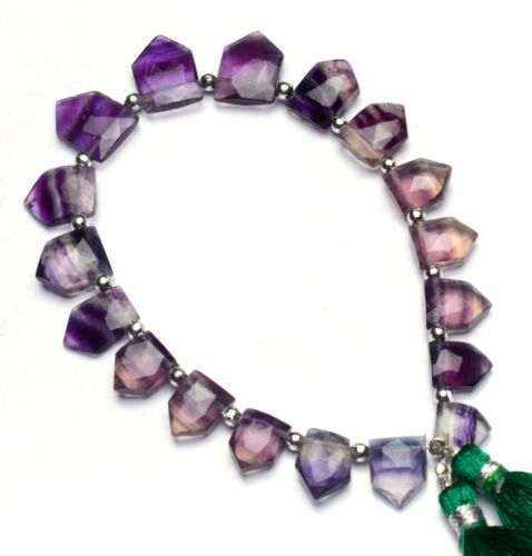 """Natural Gem Rainbow Fluorite 12x8 to 14x9mm Size Faceted Briolette Beads 8"""""""