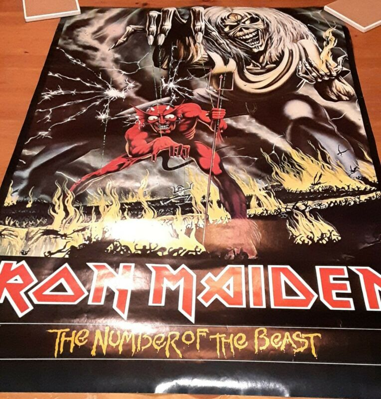 Iron Maiden Number Of The Beast Promo Poster RARE