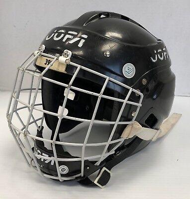 Vintage Jofa 390 Senior Ice Hockey Helmet black 6 3/4- 7 3/8 with 368 Jr cage