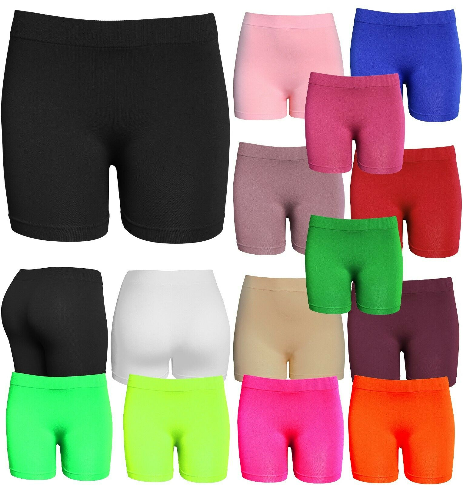 Women's Workout Seamless Biker Bermuda Boy Shorts Clothing, Shoes & Accessories