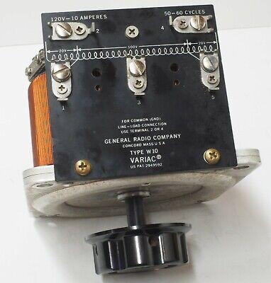 General Radio W10 Variac 120 Volt 10 Amps 0-120 Or 140 V Output