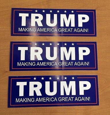 3 Trump Maga Make America Great Again Bumper Sticker Stickers Not From China