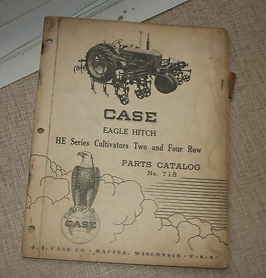 1953 Case Eagle Hitch He Series Cultivator 2 4 Row Parts Catalog No. 718