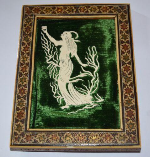 Antique Handmade Very Ornate Frame with Art