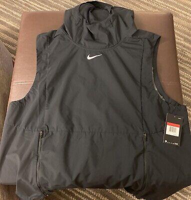 Black Nike Alpha Fly Rush Vest NWT Med Team Air Elite Max Sleeveless Jacket $145 (Fly Max Football)