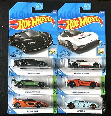 🔥Hot Wheels Exotic Car Lot of 6 Bugatti Lamborghini McLaren (2019/2020) New!🔥