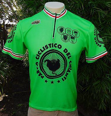 43ea04e8d ELLEGI SZ 6 GREEN CYCLING JERSEY PARCO CICLISTICO DEL CHIANTI RARE ITALY