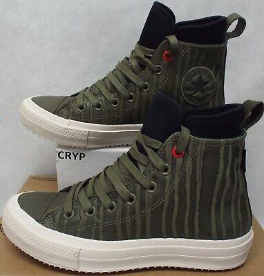 e90ff9c2460 Mens 9 Converse CTAS WP Boot Hi Medium Olive Leather Shoes Boots  120  158838C