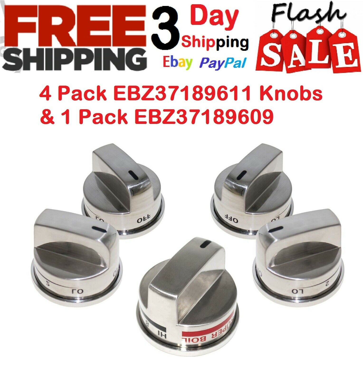 Replacement Range Knob Stainless Steel Knobs For LG Gas Stov